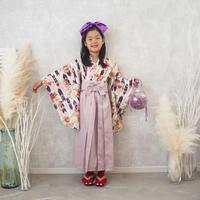 【レンタル】2 ステップ袴(7歳用パープル)