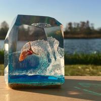 CrystalCube Lsize BigcarvingOrengefish