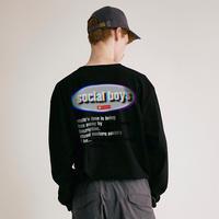 social boys L/S Tee(BLK)