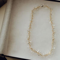 natural bridal necklace  /  20-bn1