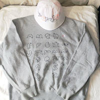 【on champion】OMA overdrawing sweatshirt  63  stencil Ver, OMA TYPE FACE|OMAの象形文字