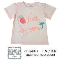 BONHEUR DU JOUR  刺繍入りTシャツ(16080)