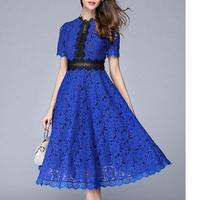 バイカラーレ―スワンピース ベージュ 結婚式 お呼ばれ 二次会 パーティードレス ロング 大きいサイズ   半袖 透け感 エレガント 青 ブルー