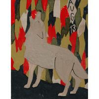 【日本画】8/13 Wolfオオカミ『366DAYS』