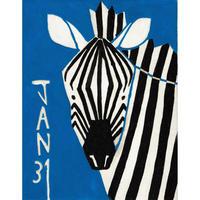 【日本画】1/31 Zebraシマウマ『366DAYS』