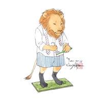 【原画】『7a.m.』紙本彩色ライオン