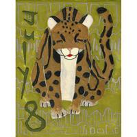 【日本画】7/8 Clouded leopardウンピョウ『366DAYS』