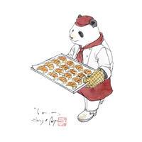 【原画】『6a.m.』紙本彩色パンダ
