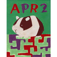 【日本画】4/2 Guinea pigモルモット『366DAYS』