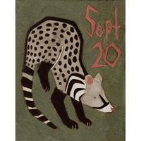 【日本画】9/20 Civetジャコウネコ『366DAYS』