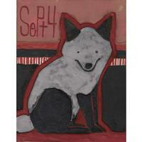 【日本画】9/4 Silver foxギンギツネ『366DAYS』
