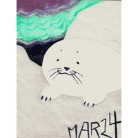 【日本画】3/24 Sealアザラシ『366DAYS』