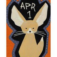 【日本画】4/1 Fennecフェネック『366DAYS』