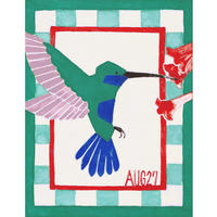 【日本画】8/27 Hummingbirdハチドリ『366DAYS』