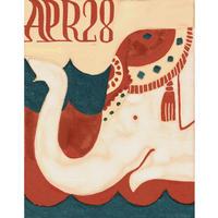 【日本画】4/28 Indianelephantインドゾウ 『366DAYS』