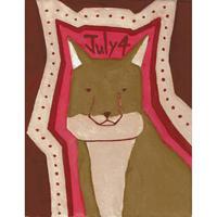 【日本画】7/4 Tibetan sand foxチベットスナギツネ 『366DAYS』
