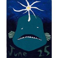 【日本画】6/25 Footballfishチョウチンアンコウ『366DAYS』