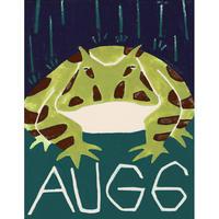 【日本画】8/6 Horned frogツノガエル『366DAYS』