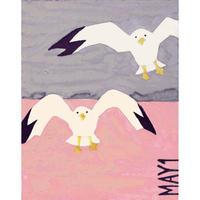 【日本画】5/1 Seagullカモメ『366DAYS』
