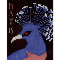 【日本画】5/15 Victoria crowned pigeonオウギバト『366DAYS』