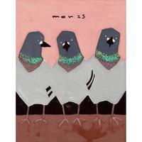 【日本画】3/25 Pigeonハト『366DAYS』