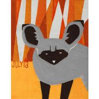 【日本画】7/13 Bat eared foxオオミミギツネ『366DAYS』