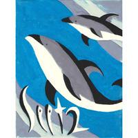 【日本画】9/2 Pacific white-sided dolphinカマイルカ『366DAYS』