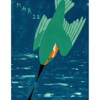 【日本画】3/22 Kingfisherカワセミ 『366DAYS』