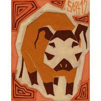 【日本画】9/17 Red river hogアカカワイノシシ『366DAYS』