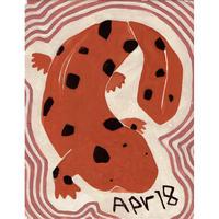 【日本画】4/18 Giant salamandeオオサンショウウオ 『366DAYS』