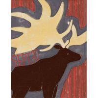 【日本画】9/30 Irish elkオオツノジカ『366DAYS』