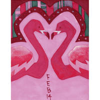 【日本画】2/14 Flamingoフラミンゴ『366DAYS』
