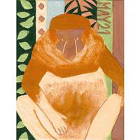 【日本画】5/21 Proboscis monkeyテングザル『366DAYS』