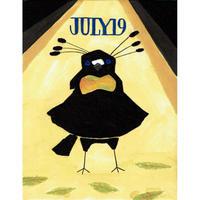 【日本画】7/19 Lawes's parotiaタンビカンザシフウチョウ『366DAYS』
