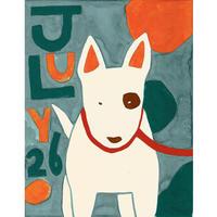 【日本画】7/26 Bull terrierブルテリア『366DAYS』