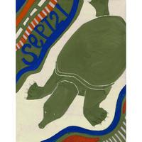 【日本画】9/21 Softshell turtleスッポン『366DAYS』
