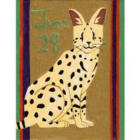 【日本画】6/28 Servalサーバルキャット『366DAYS』