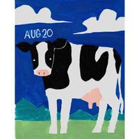 【日本画】8/20 Cowウシ『366DAYS』