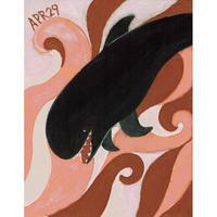 【日本画】4/29 Pilot  whalesゴンドウクジラ 『366DAYS』