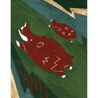 【日本画】1/12 Boarイノシシ『366DAYS』