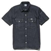 【Lee】 WORK SHIRTS (Blue)/ワークシャツ半袖(ブルー)