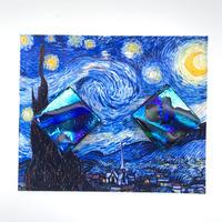 ゴッホ:星月夜(スターリーナイト)ピアス (0085)