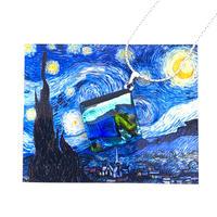 ゴッホ:星月夜(スターリーナイト)ネックレス (0084)