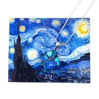 ゴッホ:星月夜(スターリーナイト)ネックレス (0081)