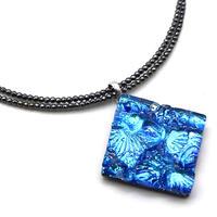 天然石チェーンネックレス ブルー(0020)