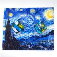 ゴッホ:星月夜(スターリーナイト)ピアス (0060)