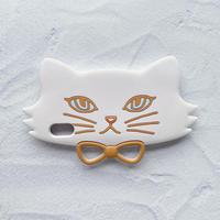白ネコのiPhoneケース