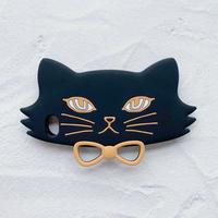 黒ネコのiPhoneケース(ブラック)