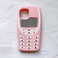 Nokia風レトロ携帯電話のiPhoneケース(ピンク)