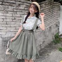 カジュアルロリータ♡サロペットスカート セット